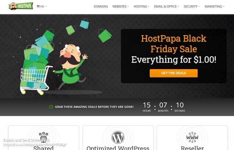 Hostpapa:.COM域名促销 域名首年 0.99$