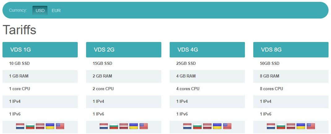 hosting.energy:$4.8/月/1GB内存/10GB SSD空间/不限流量/100Mbps端口/KVM/洛杉矶/保加利亚/拉脱维亚/乌克兰/荷兰